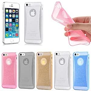 Zaki Thin Crystal Glow Soft Silicone Back Cover Case Skin for A iPhone 6 (Assorted Color) , Blue
