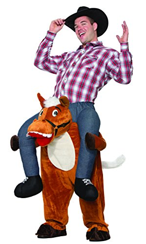 [Forum Men's Horse Back Ride-on Deluxe Costume, Brown, STD] (Cowboy Riding A Horse Costume)