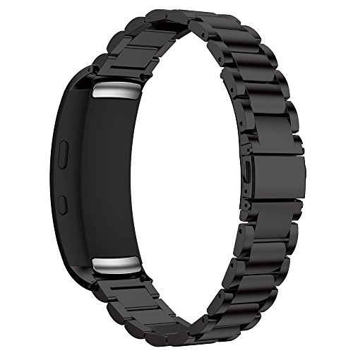 """Maxjoy Samsung Gear fit2 Watch Band- Gear Fit 2 Bands Straps With Magnet Clasp for Samsung Gear Fit 2 SM-R360,Black, Silver, Rose Gold for Women Men Fit 6.9""""-9.1"""" Wrist"""
