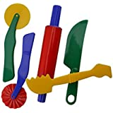 S Art Supplies Durable Clay and Dough Tools Five Piece Set - Ages 3 & Up (VC-S5PC)
