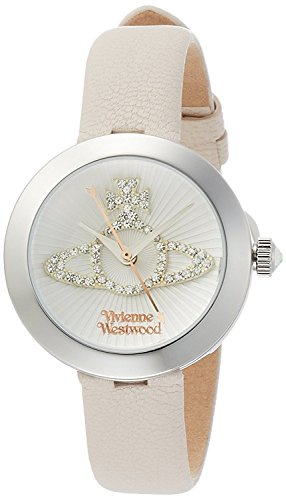 Vivienne Westwood watch Queensgate White Dial cream leather Quartz VV150WHCM Ladies
