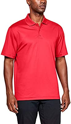 Dark Navy Red Under Armour 1279759 Men's UA Tactical Performance Polo Shirt