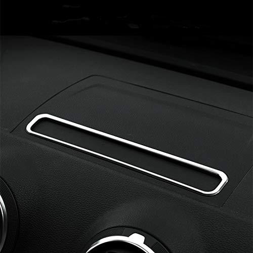 WYYYFA Auto Styling Konsole Klimaanlage Steuerrahmen Dekoration Abdeckung Innenverkleidung Edelstahl Streifen F/ür Audi A3 8V 2013-2018