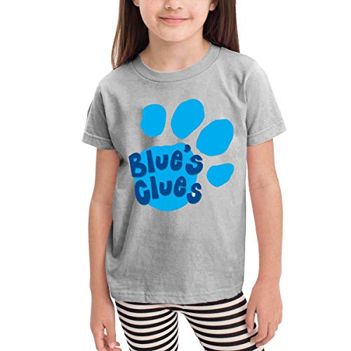 (SuperLee Infant Kids Blue's Clues Soft Short Sleeve T-Shirt Gray 4T )