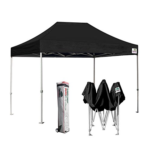 Eurmax Basic 8 x 12 Ez Pop Up Canopy Party Tent Commercial Level Deluxe Wheeled Storage Bag (Black)