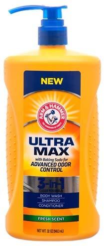 NEW Arm & Hammer ULTRA MAX Fresh Scent 3-in-1: Body Wash, Shampoo & Conditioner Net Wt 32 oz by Arm & Hammer
