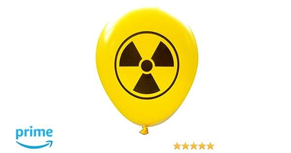 Amazon Radioactive Symbol Balloons 16 Pcs By Nerdy Words