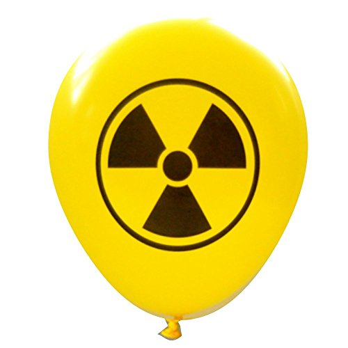 Radioactive Symbol Balloons (16 pcs) by Nerdy Words (Yellow)