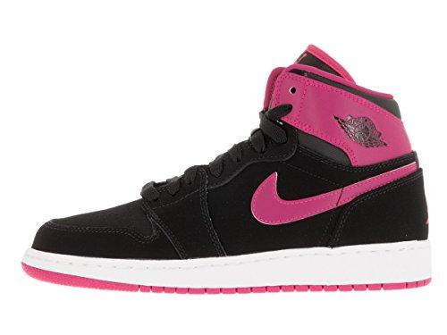online retailer 052f1 86eb6 Nike Air Jordan 1 Retro High Gg, Zapatillas de Running para Niñas Negro    Rosa   Blanco   Rosa Black   Vivid PinkWhiteVvd Pnk En venta Venta Sast  Venta Pice ...
