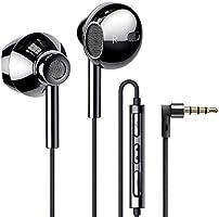 有線イヤホン マイク付きHD通話可能 QUADダイヤフラム デュアルドライバー構造 重低音重視 ハイレゾ相当の高音質 インナーイヤー型 リモコン(3ボタン)付 音量調整 3.5mmプラグ iPhone/Android/PCなどに対応...
