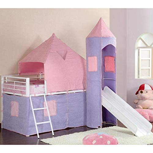 Castle Styled Twin Loft Bed - coaster 460279
