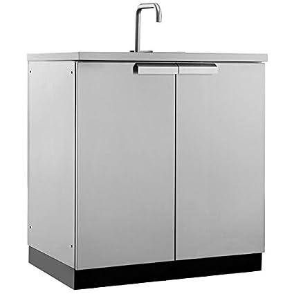 Amazon.com : New Age 65001 Outdoor Kitchen Storage, Sink Cabinet ...