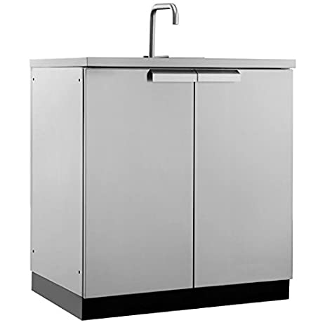 NewAge Outdoor Kitchen Sink Cabinet In Stainless Steel Classic