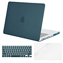 Mosiso Plastic Hard Case with Keyboard Cover with Screen Protector Only for Old MacBook Pro 13 Inch with CD-ROM (Model: A1278, Version Early 2012/2011/2010/2009/2008), Deep Teal