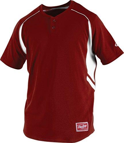 Rawlings Boy's 2-Button Jersey, Cardinal, Medium