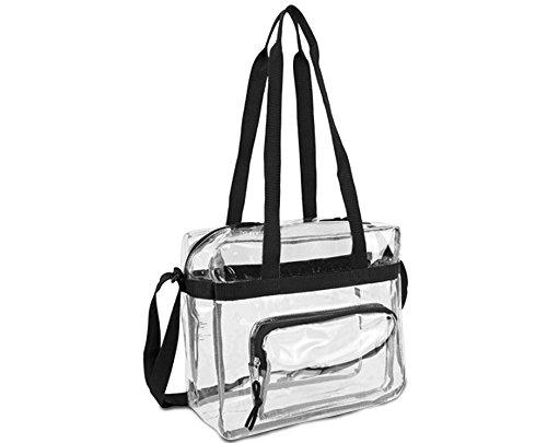 Deluxe trasparente 30,5x 30,5x 15,2cm NFL Stadium approvato borsa e borsa messenger con tasca frontale