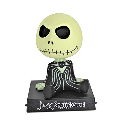 CHITOP Nightmare Before Christmas | New Jack Skellington Shaking Head Figure Animation The Nightmare Before Christmas Model Toy car Decor