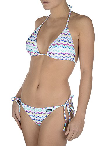 Playa urbana de las mujeres Coral Bikini blanco