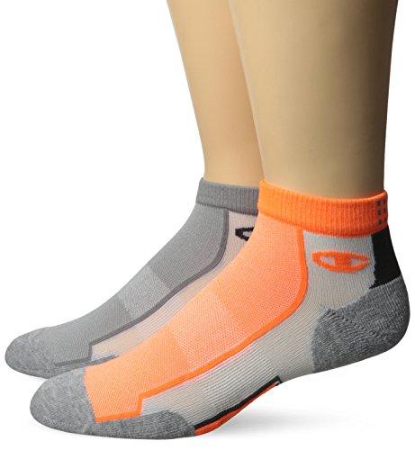 2 Pack Ankle Socks - Champion Men's 2 Pack Mid-Ankle Running Socks
