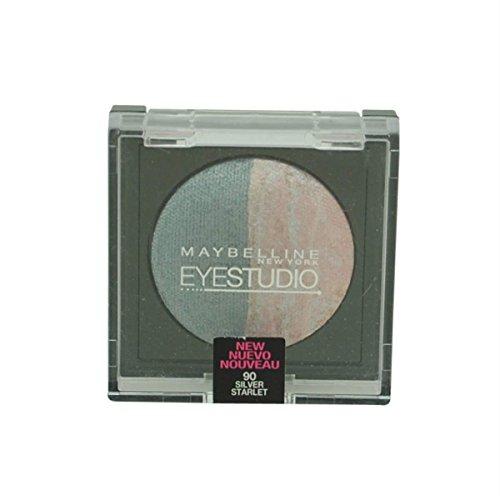 (2 Pack) Maybelline New York Eye Studio Color Pearls Marbleized Eyeshadow, 90 Silver Starlet, 0.09 Oz ()