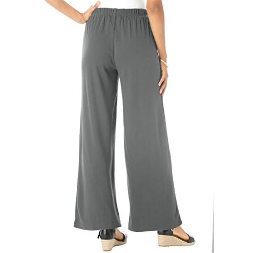 dd7979e2f03 30%OFF Roamans Women s Plus Size Soft Knit Wide Leg Pants - www ...