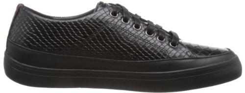 Fitflop Super T - Snake - Zapatillas de cuero mujer negro - negro