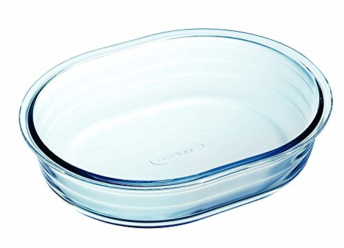 Arcuisine Borosilicate Glass Oval Roaster 9.85 Inches (25 Centimeter)