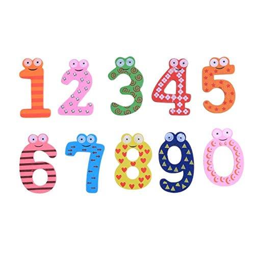 Fridge Magnets - 10pcs Set Numbers 0 9 Cartoon Wooden Fridge Magnet Stickers Home Decor - Owl Funny Thrones Nexlevl Ny Monaco Interactive Educational Europe Kentucky for $<!--$5.99-->