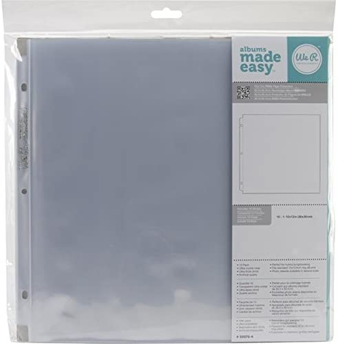 3-Pack K/&Company Postbound Page Protectors 12 inch x 12 inch White Inserts 10 Pack K12DPAGE