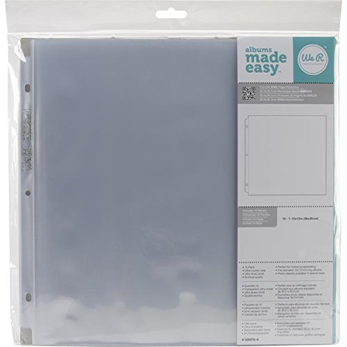 Memory Ring 3 Keepers - We R Memory Keepers 12 x 12 inch 3-Ring Album Page Protectors, 10 PK
