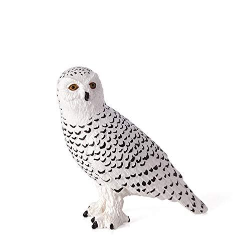 MOJO Fun 387201 Snowy Owl - Realistic International Bird of Prey Toy Replica - Snowy Owls