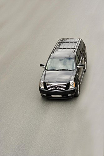 Wallmonkeys Suv Car Cadillac Escalade on the Road Peel and Stick Wall Decals WM298932 (18 in H x 12 in W)
