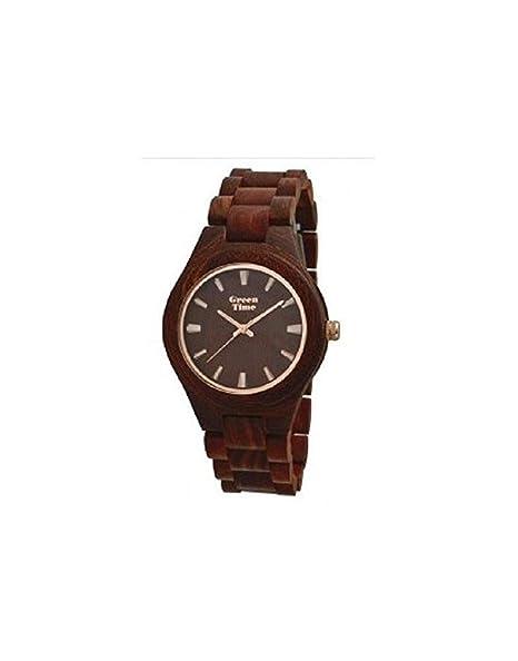 Reloj para hombre de madera Green Time zw065b Colección Spring 2017: Amazon.es: Relojes