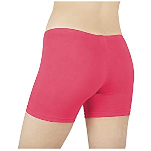 Sexy Basics Women's 6 Pack Cotton Stretch Vibrant Color Boy Short Boxer Briefs (MEDIUM, 6 Pack - Assorted Solid Colors from Collection)