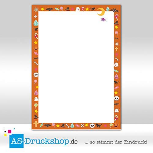 Design Paper Halloween Scary Orange 50 Sheets DIN A5 90 g Offset Paper -