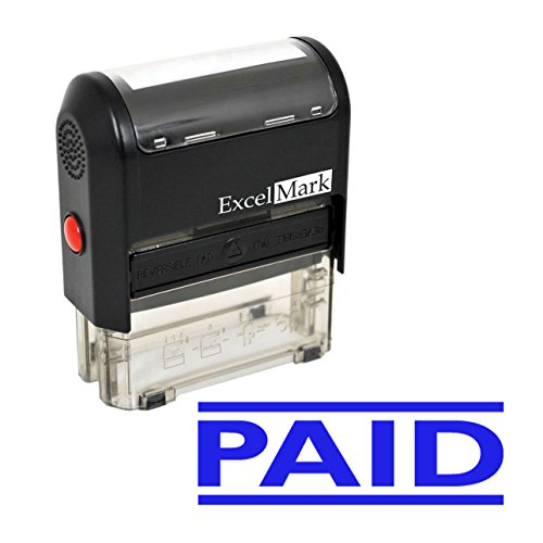 PAID Self-Inking Rubber Stamp - Blue Ink (ExcelMark A1539)
