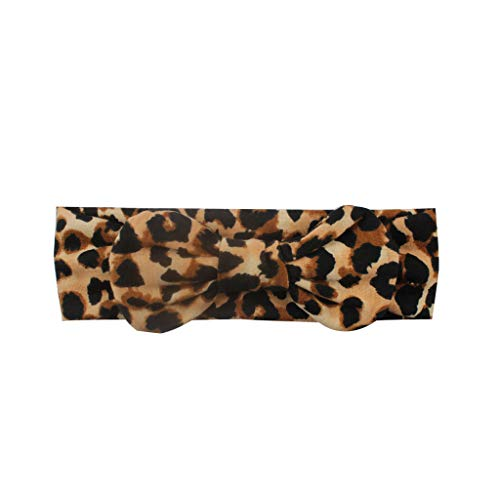 UCQueen Head Wraps for Girls Baby Girls Baby Turban Bow Leopard Print Princess Hair Band Accessories Girls' Headwear
