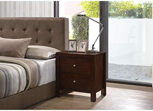 Glory Furniture Burlington 2-Drawer Wood Nightstand Cappuccino Painted