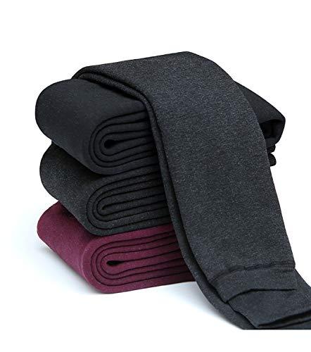 Diravo Girls Fleece Lined Leggings-Elastic Waist,Cotton Stretch,Velvet Warm-Winter Thick Leggings (Grey, S)