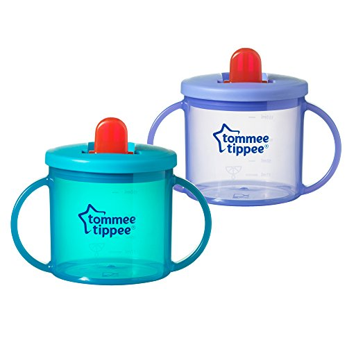 Tommee Tippee Free Flow Trainer Cup with Handles, BPA-Free, 6 Ounce, 2 Count (Colors May Vary)