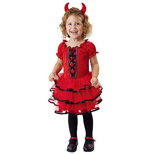 Totally Ghoul Frilly Lil Devil Costume, Size: Toddler 2-4 ()