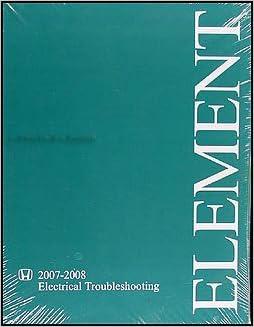 Book 2007-2008 Honda Element Electrical Troubleshooting Manual Original