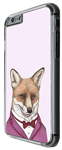 1367 - Cool Fun Trendy cute kwaii red fox dress up dinner suit bow tie Design iphone 5 5S Coque Fashion Trend Case Coque Protection Cover plastique et métal - Clear