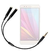 """Adaptateur double pour écouteurs stéréo Jack 3.5 mm pour Huawei Honor 5X 2016 5.5"""" et Honor 5C 5.2"""" Smartphones 4G - DURAGADGET"""