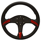 Uflex Boat Steering Wheel Gorgona-R / B | 14 5/8 Inch Red / Black