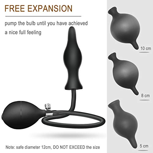 Silicone-Expand-Inflatable-Anal-Plug-Body-Safe-Medical-Grade-Waterproof-Butt-Sex-Toy-for-Male-Female-and-Beginners-Black-Classic-Style