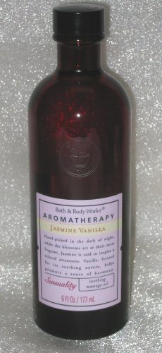 JASMINE VANILLA Sensuality Soothing Massage Oil 6oz Aromatherapy Bath & Body Works