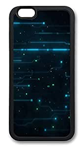 iPhone 6 Cases, Abstract Tron Legacy Circuits Durable Soft Slim TPU Case Cover for iPhone 6 4.7 inch Screen (Does NOT fit iPhone 5 5S 5C 4 4s or iPhone 6 Plus 5.5 inch screen) - TPU Black hjbrhga1544