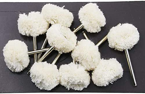 Niome Woolen Cotton Thread Polishing Wheels Brush Buffing Pad Dremel Rotary Tools 10PCS