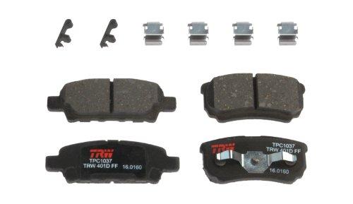 TRW TPC1037 Black Premium Ceramic Rear Disc Brake Pad Set